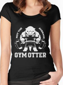 Not the average GYM OTTER Women's Fitted Scoop T-Shirt