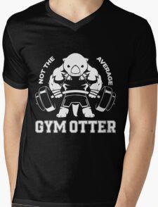 Not the average GYM OTTER Mens V-Neck T-Shirt