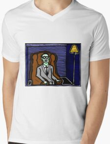 Corpse in a Chair COLORIZED Mens V-Neck T-Shirt