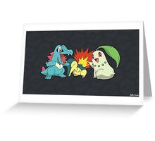 Gen II Starters Greeting Card