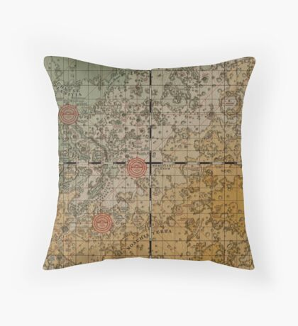 Here there be robots Throw Pillow