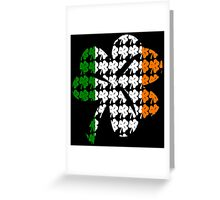 Shamrock Irish Flag Greeting Card