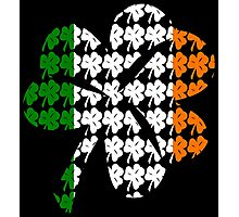 Shamrock Irish Flag Photographic Print