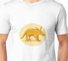 Aardvark African Ant Bear Drawing Unisex T-Shirt