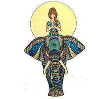 Zen Yoga Elephant Photographic Print