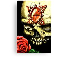 Skull and Rose Canvas Print