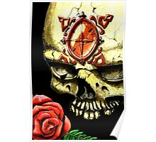 Skull and Rose Poster