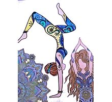 Yoga girl Photographic Print