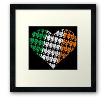 Irish Flag Heart Framed Print