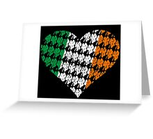 Irish Flag Heart Greeting Card