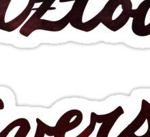 Kutztown University Maroon Watercolor Sticker