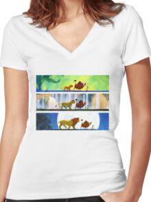 Lion King: Hakuna Matata Women's Fitted V-Neck T-Shirt