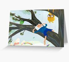Adventure Time - Hanging Out Greeting Card