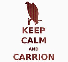 keep calm and carrion buzzard grunge red stripe Unisex T-Shirt
