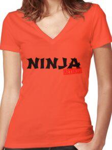 Retired Ninja Women's Fitted V-Neck T-Shirt
