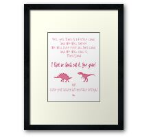 curse your sudden but inevitable betrayal, firefly, pink Framed Print
