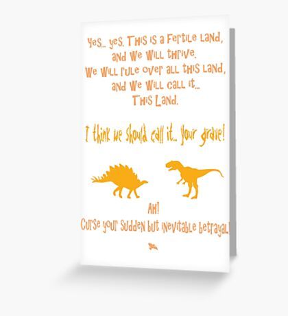 curse your sudden but inevitable betrayal, firefly, orange Greeting Card