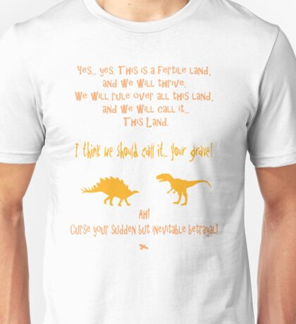 curse your sudden but inevitable betrayal, firefly, orange Unisex T-Shirt