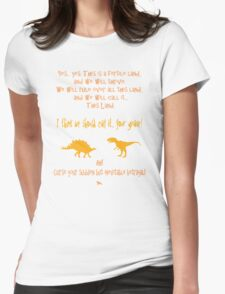 curse your sudden but inevitable betrayal, firefly, orange Womens Fitted T-Shirt