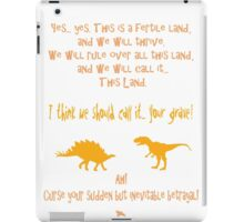 curse your sudden but inevitable betrayal, firefly, orange iPad Case/Skin