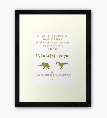 sudden but inevitable betrayal, firefly, olive green Framed Print