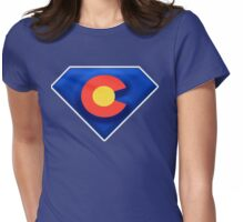 Colorado Superman  Womens Fitted T-Shirt