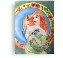 snake woman Canvas Print