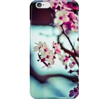 Pink and Green Flowers iPhone Case/Skin