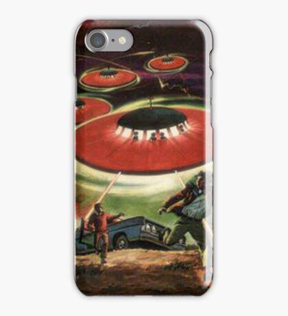 UFO attack! Classic Comic Cover Art iPhone Case/Skin
