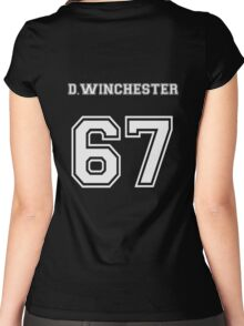 D.Winchester sports jersey  Women's Fitted Scoop T-Shirt