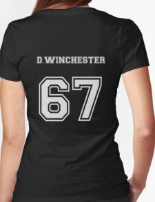 D.Winchester sports jersey  Womens Fitted T-Shirt