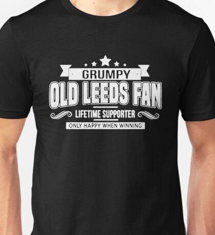 Grumpy Old Leeds Fan Unisex T-Shirt