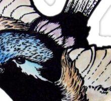Fairy Wren- 'Graphic' version Sticker