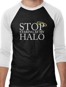 Stop staring at my halo! (FRISKY DINGO) Men's Baseball ¾ T-Shirt