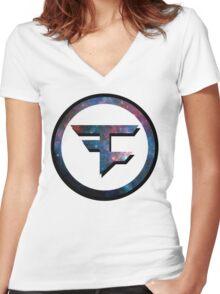 Faze Clan Galaxy Women's Fitted V-Neck T-Shirt
