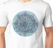 Marbled Blue Mandala Unisex T-Shirt