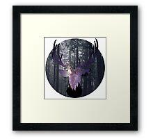 Starry Stag Framed Print