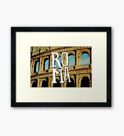 Roma Colosseum Italy Architecture Wanderlust Europe Framed Print