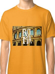 Roma Colosseum Italy Architecture Wanderlust Europe Classic T-Shirt