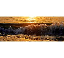 Golden Shore Break Photographic Print