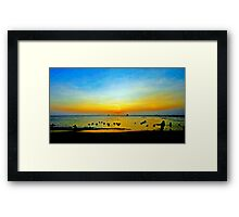 Sunset Fun at the Beach Framed Print