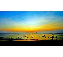 Sunset Fun at the Beach Photographic Print