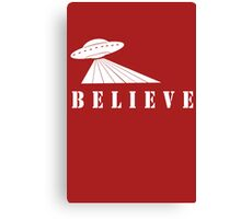 X-Files Believe Alien Spaceship UFO Canvas Print