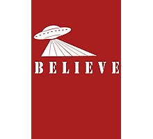 X-Files Believe Alien Spaceship UFO Photographic Print