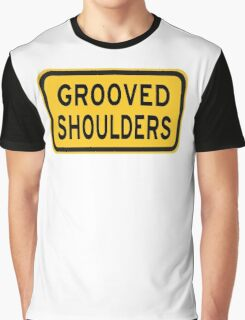 Grooved Shoulders Graphic T-Shirt