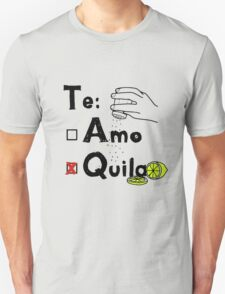 tequila with salt and lime Unisex T-Shirt