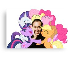 Nic and His Girls Canvas Print