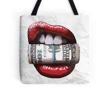 Lips with Dollar Tote Bag