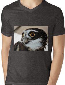 Spectacle Owl Mens V-Neck T-Shirt