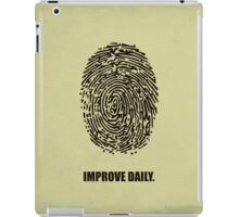 Improve Daily - Business Quotes Poster iPad Case/Skin